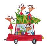 Christmas illustration Stock Images