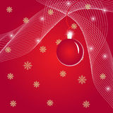 Christmas illustration with ball Royalty Free Stock Photos