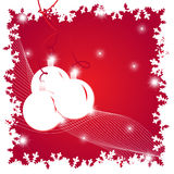 Christmas illustration with balls Royalty Free Stock Images