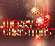 Christmas illustration with baubles Stock Image