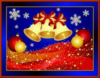 Christmas illustration with bells Royalty Free Stock Photos