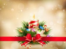 Christmas illustration with candles. EPS 10 Stock Images