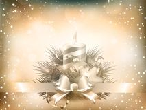 Christmas illustration with candles. EPS 10 Royalty Free Stock Image
