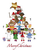 Christmas. Illustration for christmas with children Royalty Free Stock Images