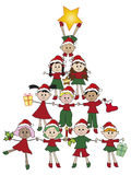 Christmas. Illustration for christmas with children Royalty Free Stock Photos