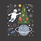 Christmas illustration, Christmas card Stock Image