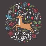 Christmas illustration, Christmas card Stock Photography