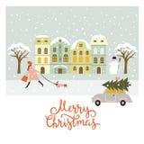 Christmas illustration, Christmas card Royalty Free Stock Photo