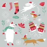 Christmas illustration, Christmas card Stock Photo