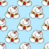 Christmas illustration. Christmas card snowman. Seamless pattern. Royalty Free Stock Photo