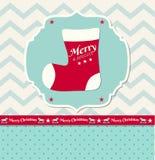 Christmas illustration - christmas stocking Royalty Free Stock Photos