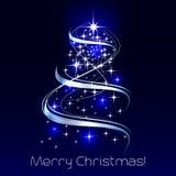 Christmas  illustration with christmas tree Stock Photos