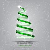 Christmas  illustration with christmas tree Stock Image