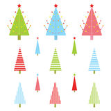 Christmas illustration with colorful Xmas tree suitable for  Xmas sticker set and clip art. Christmas illustration with colorful Xmas tree suitable for kid Xmas Royalty Free Stock Image