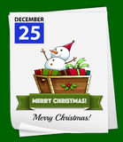 Christmas. Illustration of December 25 is Christmas day Royalty Free Stock Photography
