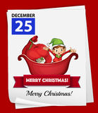 Christmas. Illustration of december 25 is a christmas day Royalty Free Stock Images