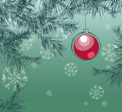 Christmas illustration with decoration Stock Photos