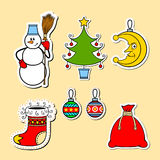 Christmas. Illustration devoted to the symbols of Christmas Stock Image
