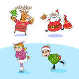 Christmas. Illustration devoted to the symbols of Christmas Royalty Free Stock Photos