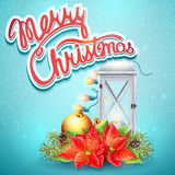 Christmas illustration with festive elements.  Stock Photography