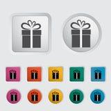 Christmas illustration with gift box 3. Stock Image