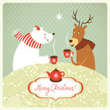 Christmas illustration. Greeting card Royalty Free Stock Photo