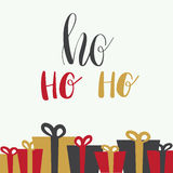 Christmas illustration with hohoho lettering Royalty Free Stock Photos