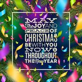Christmas greeting illustration Royalty Free Stock Photography