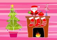 christmas illustration merry Στοκ Εικόνα