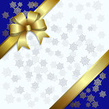 Christmas Illustration On A Snowflakes Background Royalty Free Stock Images