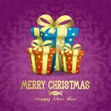 Christmas illustration. Presents. Royalty Free Stock Photos