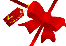 Christmas illustration of a red ribbon Royalty Free Stock Images