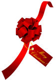Christmas illustration of a red ribbon Royalty Free Stock Image