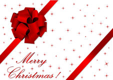 Christmas illustration of a red ribbon Royalty Free Stock Photos
