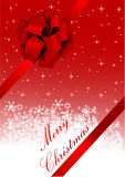 Christmas illustration of a red ribbon Stock Image