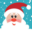 Vector Christmas illustration of santa with big beard Royalty Free Stock Photo