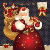 Christmas illustration with Santa Claus Royalty Free Stock Images