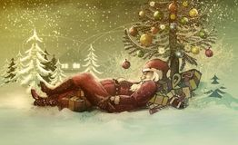 Christmas illustration-santa claus Royalty Free Stock Photography