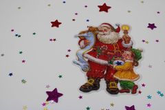 Christmas illustration with Santa royalty free stock images