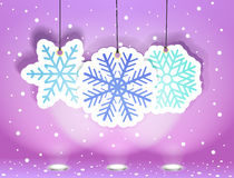 Christmas illustration with snowflakes Royalty Free Stock Images