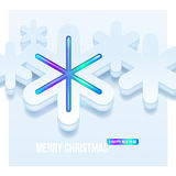 Christmas illustration with snowflakes Stock Photos