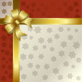 Christmas illustration on a snowflakes background Royalty Free Stock Photos