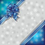 Christmas illustration snowflakes background Royalty Free Stock Image