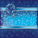 Christmas illustration on a snowflakes background Royalty Free Stock Photo