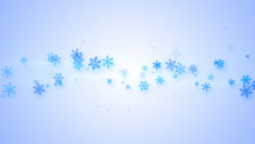 Christmas illustration with snowflakes Stock Photo