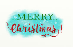 Christmas illustration with text Royalty Free Stock Photo