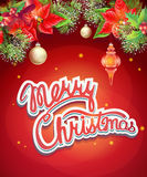 Christmas illustration with toys, rowan, Schlumberger Stock Image
