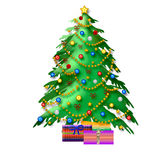christmas illustration tree Στοκ εικόνα με δικαίωμα ελεύθερης χρήσης