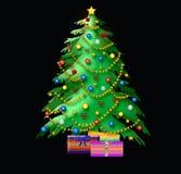christmas illustration tree Στοκ φωτογραφία με δικαίωμα ελεύθερης χρήσης