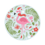 Christmas illustration , tropical style Royalty Free Stock Photos